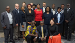 AFROSAI-E SAIs and peers at a signing ceremony for PAP-APP support 2018-2020, Pretoria September 2018
